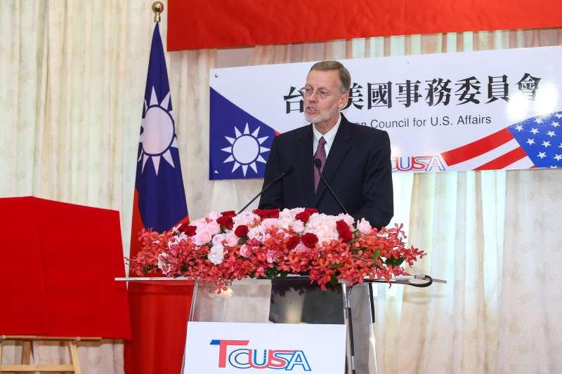 20190606-AIT美國在台協會處長酈英傑6日出席「台灣美國事務委員會揭牌典禮」。(顏麟宇攝)