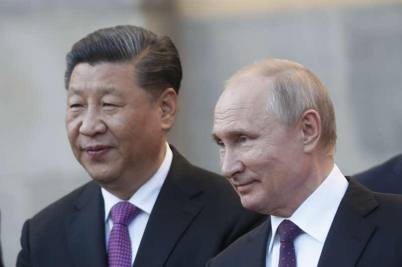 2019年6月5日,俄羅斯總統普京和中國國家主席習近平在莫斯科克里姆林宮舉行會談(AP)
