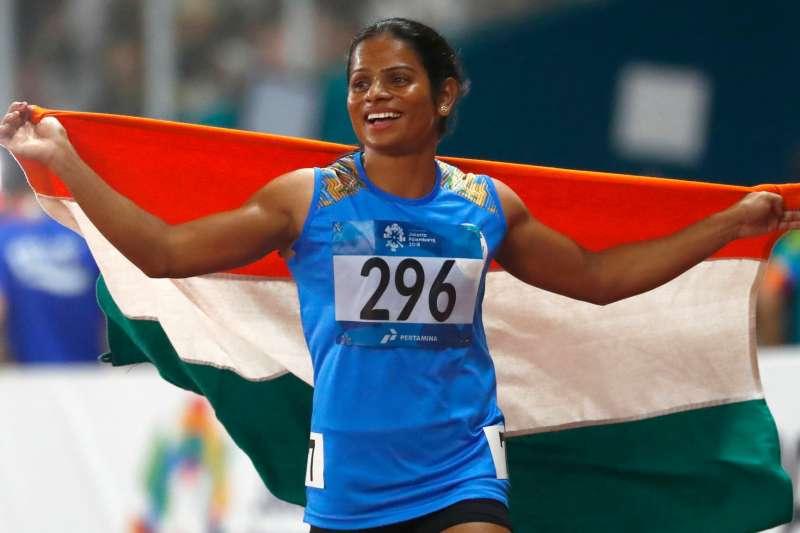 2018年,印度23歲短跑女將裳德在亞運女子100公尺摘下銀牌(美聯社)