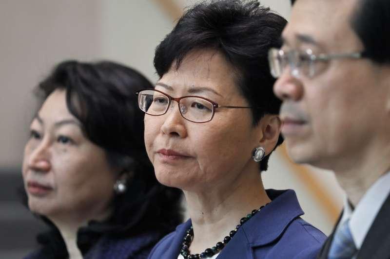 沒有法治,一國兩制即無死所;兩百萬人上街,呼喊的是退無可退。圖為香港特首林鄭月娥。(AP)