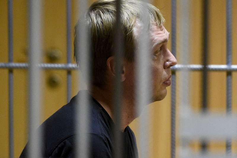 被拘留在獄中的戈盧諾夫。(AP)