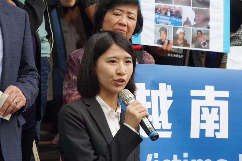 20190611-「無良台塑污染海洋,越南人民跨海訴訟」記者會,黃馨雯律師發言。(盧逸峰攝)