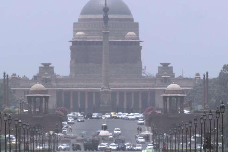 熱浪中的印度總統府。(AP)