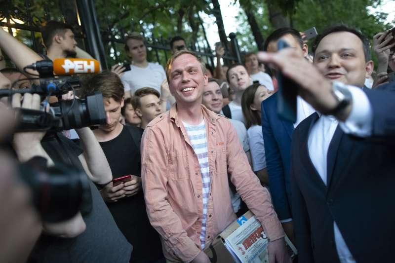 俄羅斯調查記者戈盧諾夫獲釋(AP)