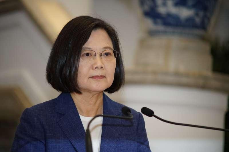 20190613-蔡英文總統於府內發表談話。(盧逸峰攝)