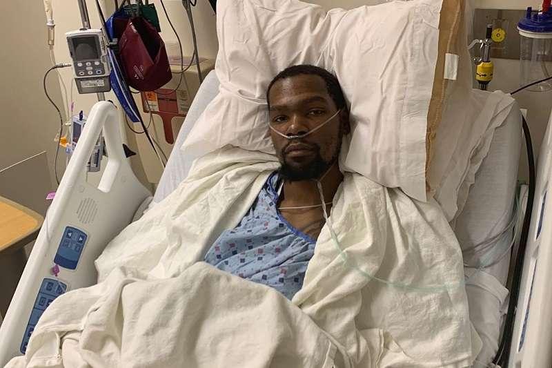 杜蘭特在個人IG上發文證實自己的阿基里斯腱斷裂,已經斷完手術,而且結果相當成功。 (圖片取自杜蘭特個人Instagram)