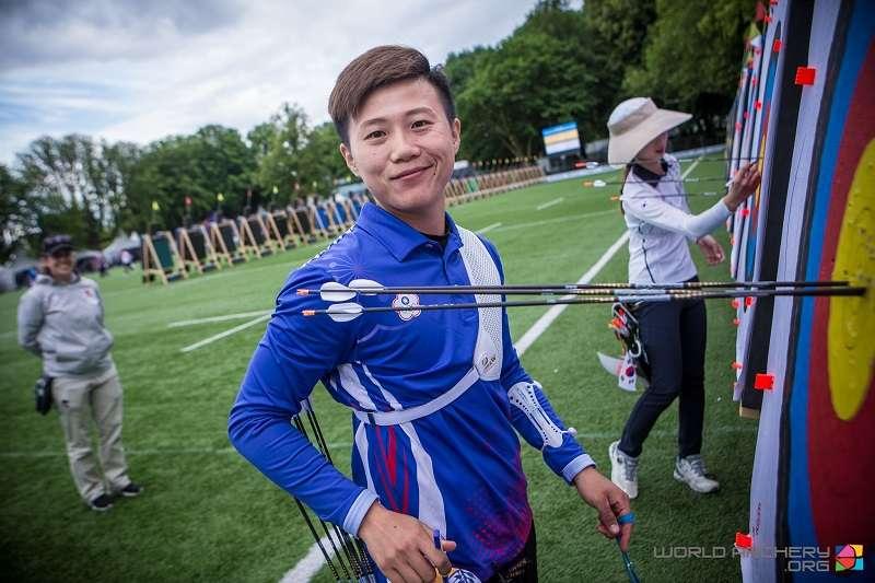 中華女團在射箭世錦賽上拿下隊史首面金牌。 (圖片取自國際射箭總會官方臉書,20190616)