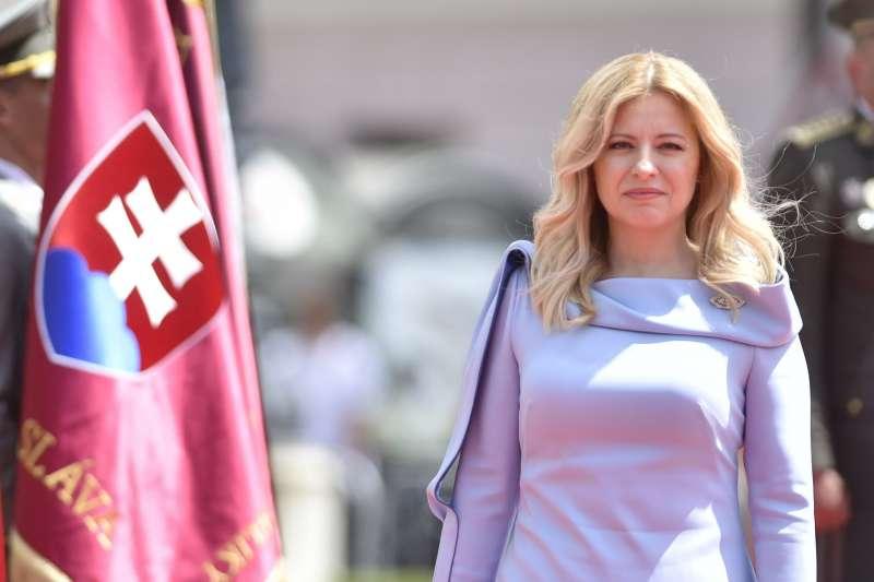 2019年6月15日,中歐國家斯洛伐克新任總統卡普托娃(Zuzana Čaputová)就職(AP)