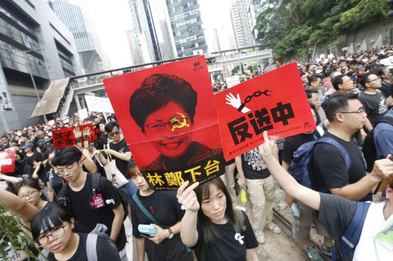 香港「反送中」大遊行。(資料照,新新聞郭晉瑋攝)