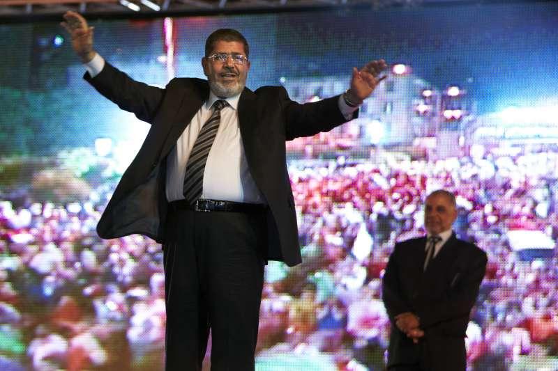 2012年5月,穆爾西(Mohamed Morsi)競選埃及總統(AP)