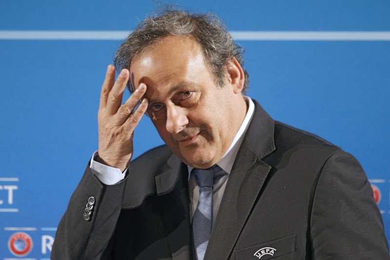 法國足壇傳奇巨星普拉提尼(Michel Platini)(AP)