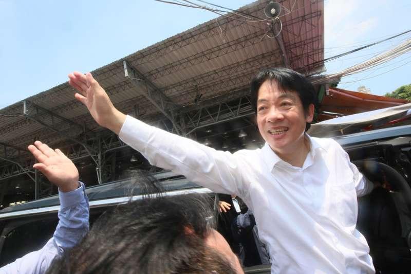 前行政院長賴清德在民進黨提名初選時曾表明不會當副手。(柯承惠攝)