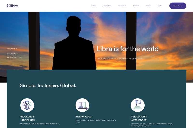 臉書推出的數位貨幣Libra(取自Libra官網)
