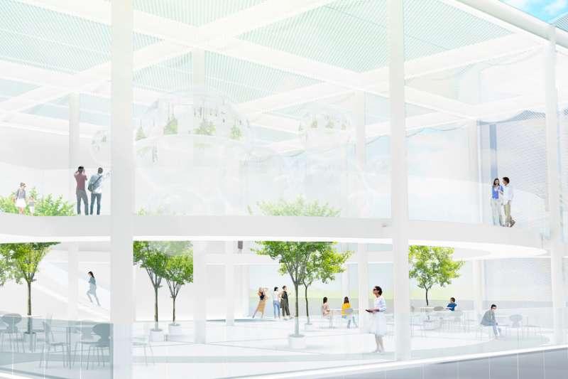 台中國際性地標建築,台中綠美圖預計111年啟用。(圖/臺中市政府提供)