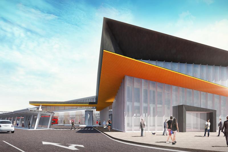 基隆城際轉運站完工示意圖。(圖/基隆市政府提供)