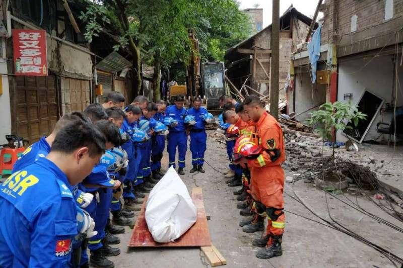 2019年6月17日,四川宜賓長寧縣深夜發生6級地震,造成房屋倒塌,逾兩百人傷亡。(翻攝微博)