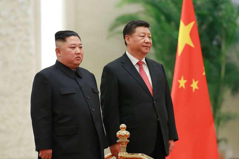 2019年1月8日,北韓領導人金正恩訪問中國,會見習近平。(AP)