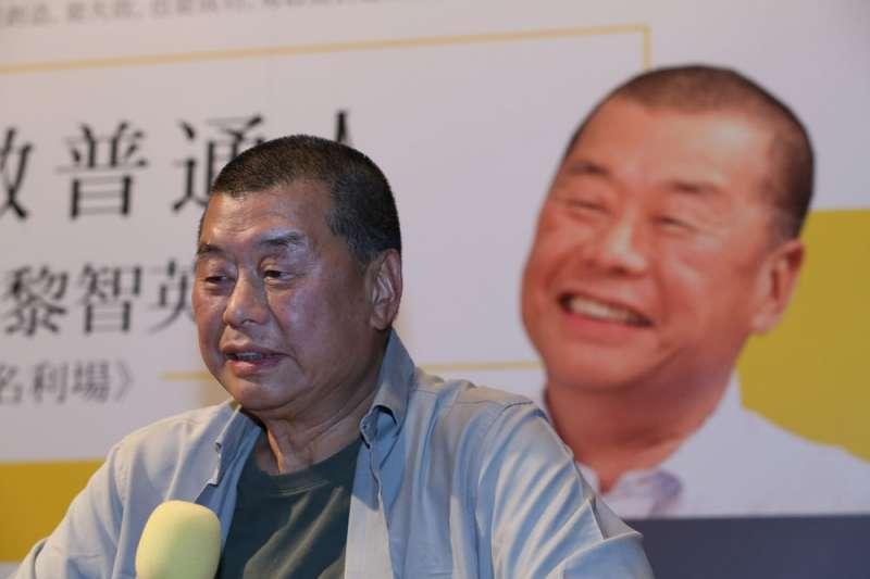 雖然年過70,黎智英為了香港民主仍時時「衝街頭」。(柯承惠攝)