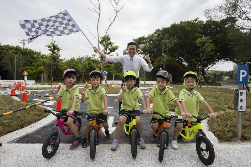 港南運河公園將舉辦專屬小朋友的push bike滑步車大賽。(圖/新竹市政府提供)