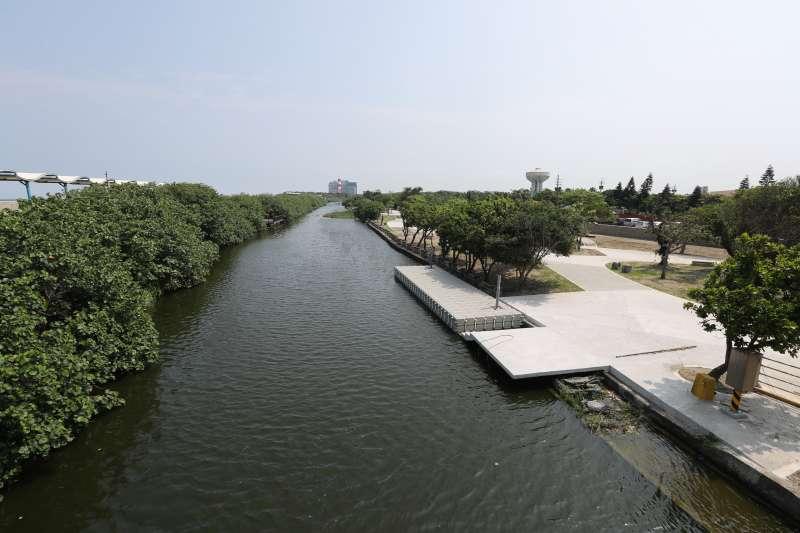 新竹市港南運河公園今夏登場,親水好去處再多一處。(圖/新竹縣政府提供)