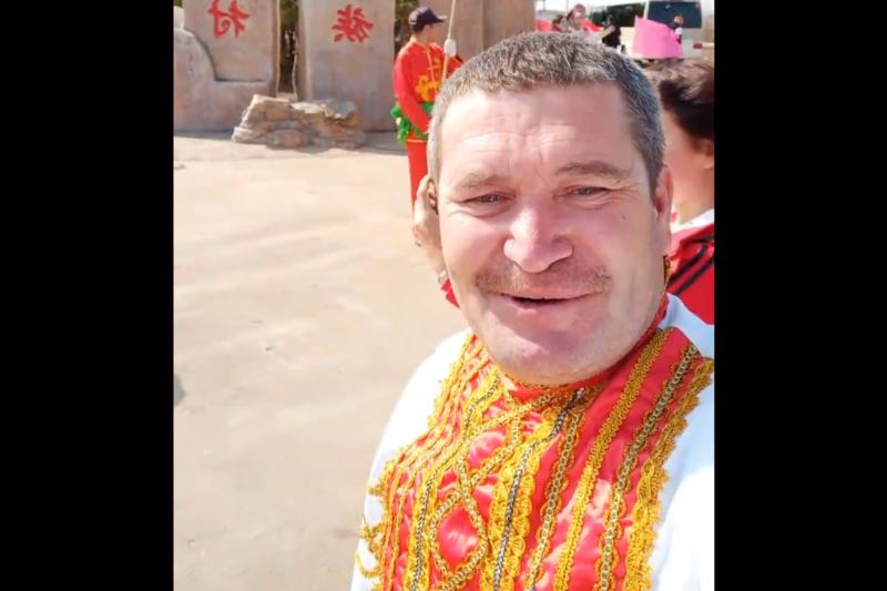 中國俄羅斯族大叔網紅董德升(翻攝網路)