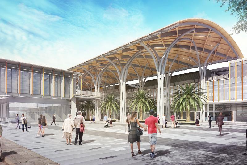基隆城際轉運站完工示意圖。(圖/基隆市交通旅遊處提供)