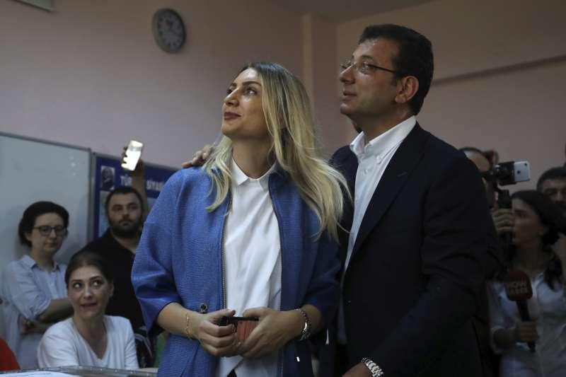 2019年6月23日,土耳其大城伊斯坦堡重選市長,反對黨「共和人民黨」(CHP)候選人伊瑪莫魯(Ekrem İmamoğlu)又贏了(AP)