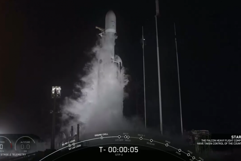 福衛七號衛星1430升空。(擷取自YouTube)