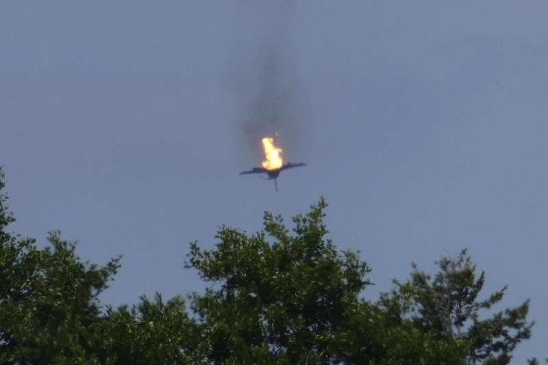 2019年6月24日,德國空軍2架「颱風」(Eurofighter Typhoon)戰鬥機發生空中撞擊(AP)