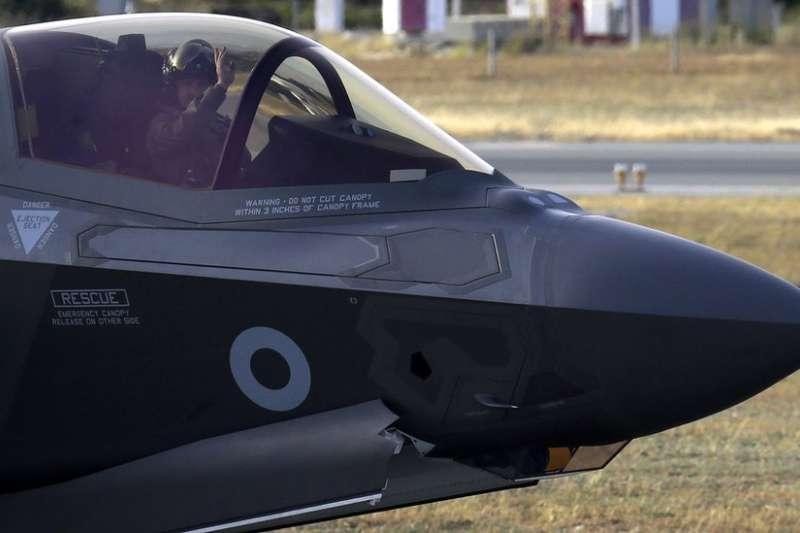 英國新型的F-35B閃電II匿蹤戰鬥機首次參加實戰。(BBC中文網)