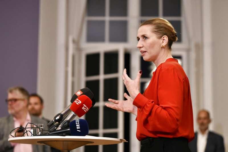 2019年6月26日,丹麥41歲的社會民主黨黨魁佛瑞德里克森宣布組成左派少數政府。(AP)