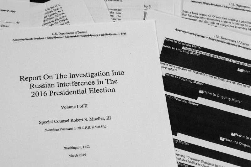 美國特別檢察官穆勒的448頁通俄門調查報告(AP)