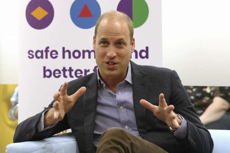 英國劍橋公爵威廉王子26日表示,如果他的孩子是同性戀,他完全支持(美聯社)