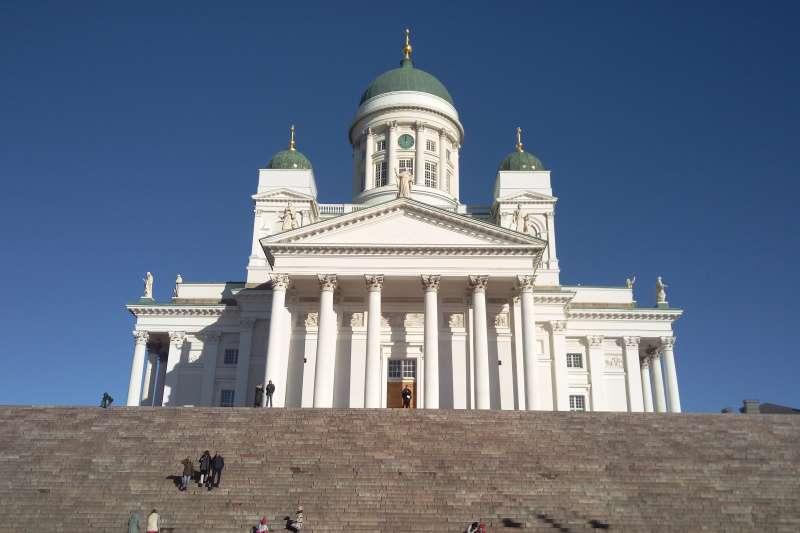 赫爾辛基主教座堂,是赫爾辛基的地標。(圖/作者提供)