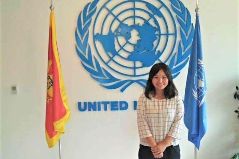 外交專題:曾在聯合國駐科索沃團隊實習的台灣人胡鈞媛(胡鈞媛提供)