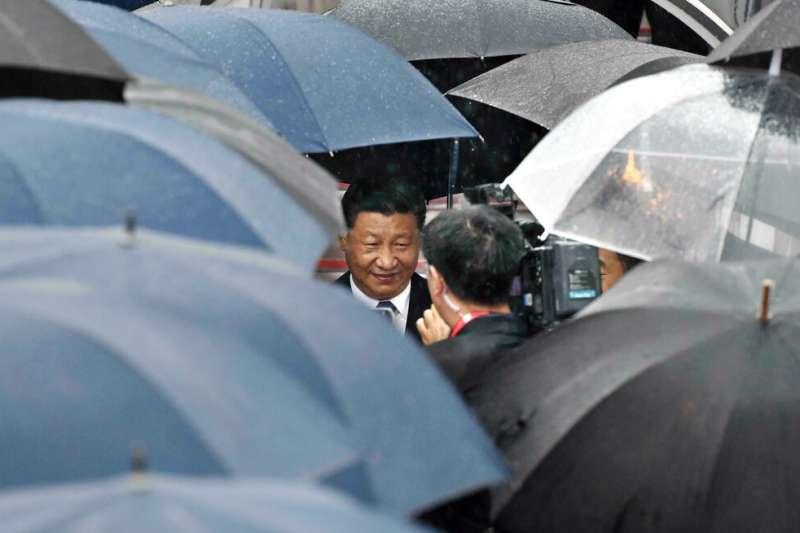 中國國家主席習近平到訪大阪。(美聯社)