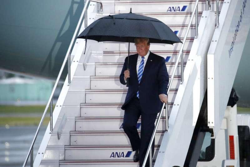 美國總統川普到訪大阪。(美聯社)