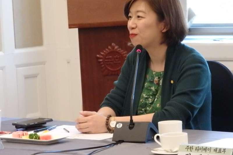 20190629-民進黨立委林靜儀(見圖)與促進轉型正義委員會代理主委楊翠等人,於本周赴韓國交流推動轉型正義經驗。(林靜儀辦公室提供)