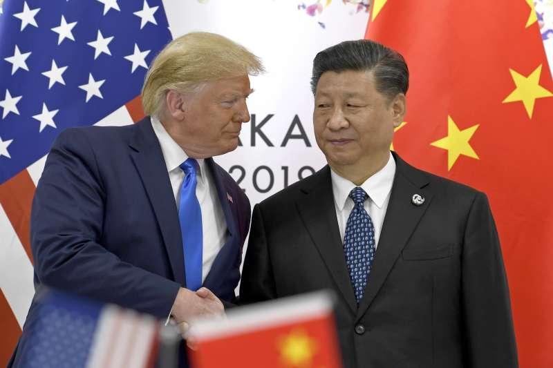 2019年6月29日,日本大阪二十國集團(G20)領導人峰會,「大阪川習會」登場,美國總統川普與中國國家主席習近平舉行雙邊會談(AP)