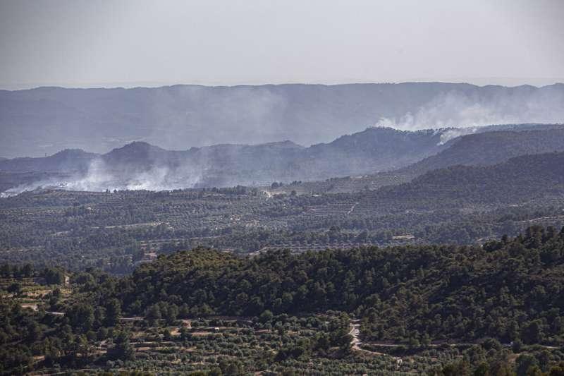 2019年6月28日,西班牙加泰隆尼亞省爆發20年一見的大型森林野火。(AP)