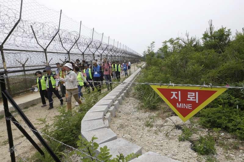 兩韓交界的板門店非軍事區(DMZ)和平小徑(AP)