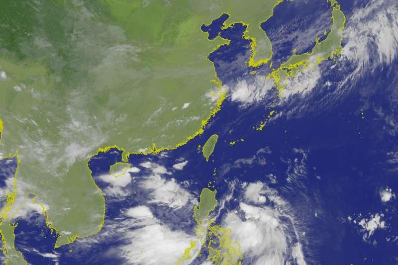 20190630-氣象局表示,目前位於菲律賓東方海面的熱帶性低氣壓,未來將朝西北方向移動,影響程度得視熱帶低壓是否發展及有多接近。(取自中央氣象局)