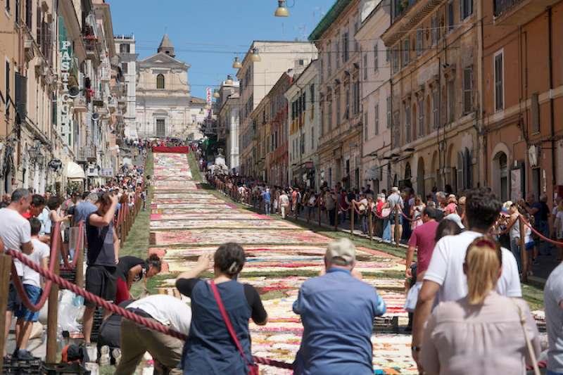 簡札諾山城的花毯(曾廣儀攝)