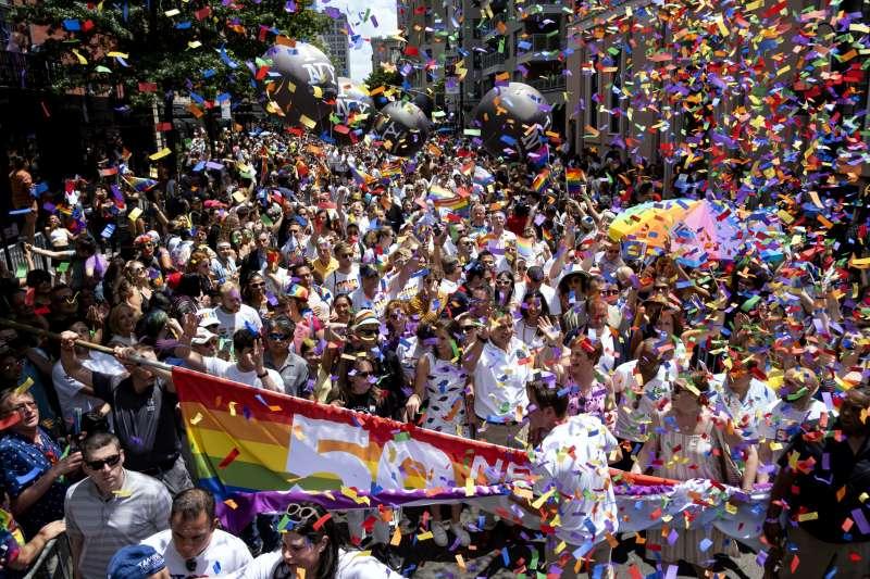 石牆事件50周年:紐約同志遊行(AP)