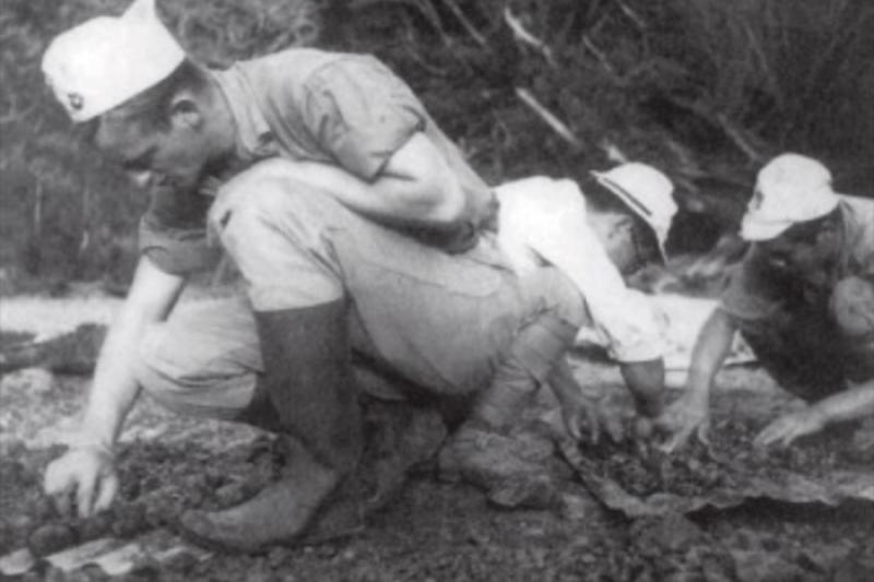 美軍在父島上發現了落難飛行員的遺骸,更找出了日軍吃人肉的證據(圖/維基百科)