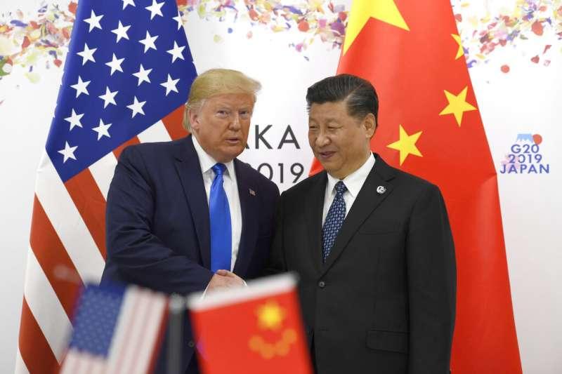 川習會,川普與習近平,中美貿易戰,G20大阪峰會。(美聯社)