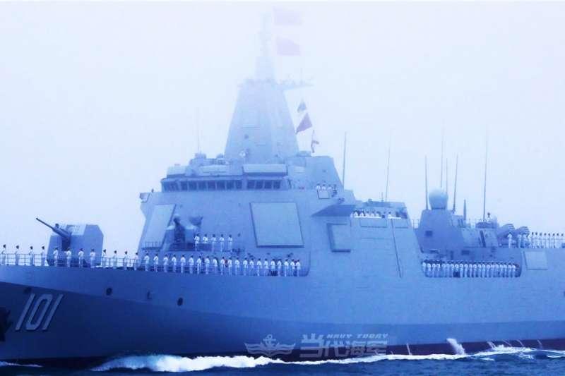 解放軍055型驅逐艦南昌號。(翻攝中國軍網)