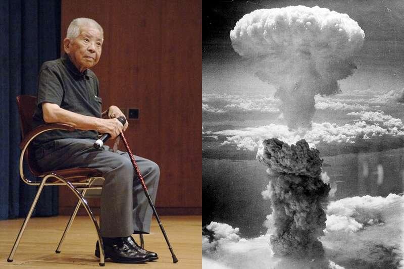 山口彊先生不幸遭到2次核彈攻擊,卻堅強地存活下來。(圖/取自youtube)
