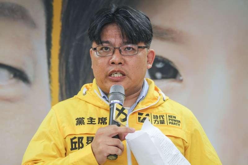20190703-時代力量3日召開2020區域立委提名記者會,圖為時代力量主席邱顯智。(蔡親傑攝)