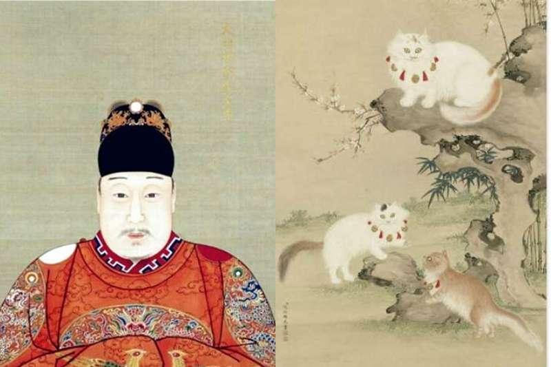 明神宗愛貓成痴,不但讓貓滿皇宮跑,還讓牠們升官發財(圖/維基百科、國立故宮博物院)